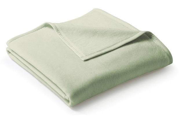 Biederlack Plaid / Decke Uno Cotton salbei 150 x 200 cm
