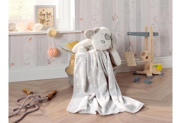 Biederlack Play & Dream Set Hund 75 x 100 cm