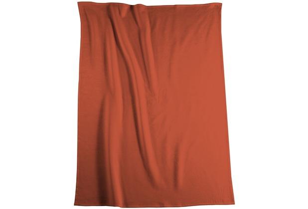 Biederlack Wohndecke Cotton Pure orange 150x200 cm