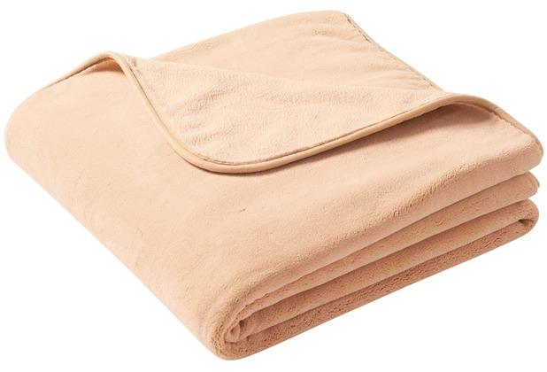 Biederlack Plaid / Decke pure soft camel schmale Einfassung 150 x 200 cm