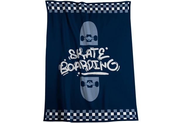 Biederlack Wohndecke Young & Fancy Skater 150 x 200 cm