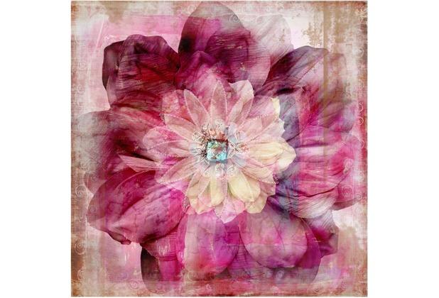 Bilderwelten Vliestapete - Grunge Flower - Fototapete Quadrat 192x192cm