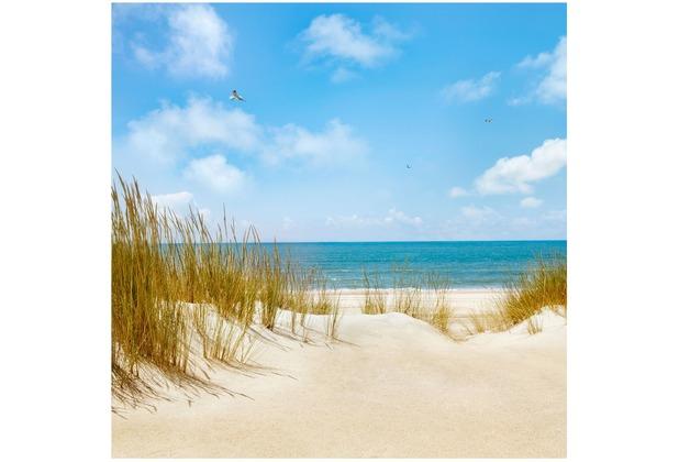 Bilderwelten Vliestapete - Strand an der Nordsee - Fototapete Quadrat 192x192cm
