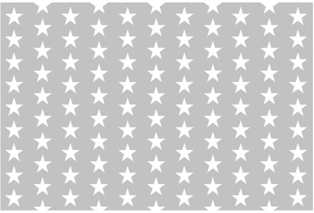 Bilderwelten Vliestapete - Weiße Sterne auf grauen Hintergrund - Fototapete Breit 190x288cm