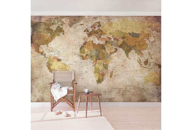 Bilderwelten Vliestapete - Weltkarte - Fototapete Breit 190x288cm