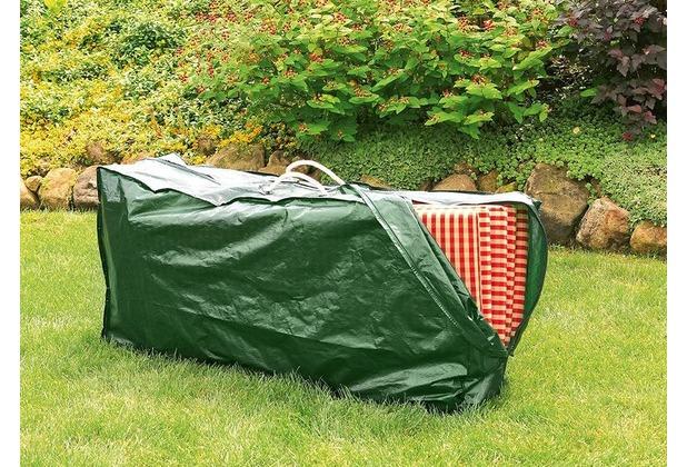 Bio Green Schutzhülle grün hochreißfest für 4 Hochlehner Auflagen 130 x 35 x 60 cm