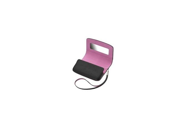 Blackberry Handtasche für Torch 9800, schwarz-pink
