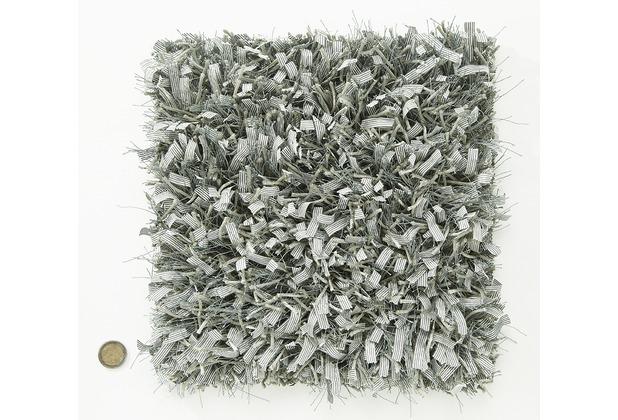 Kelii Hochflor-Teppich Blanche 23 grau Wunschmaß