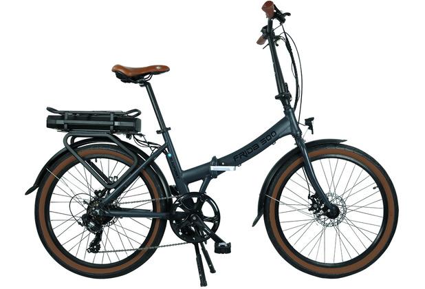 Blaupunkt Falt-E-Bike Frida 500 Lava Grau matt Vormontiert