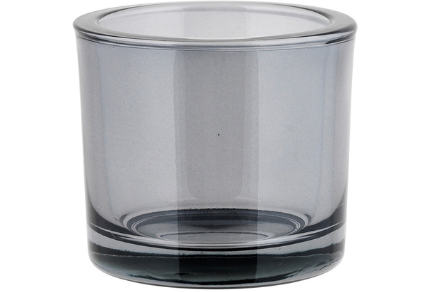 blomus Nero Glas Windlicht - Smoke Ø 9 cm