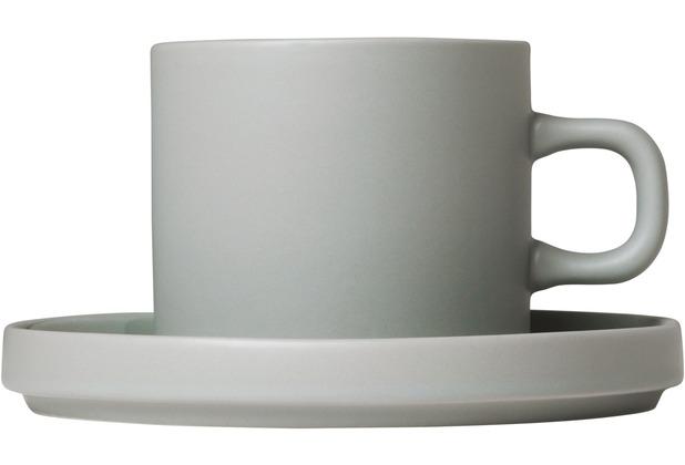 blomus Pilar Kaffeetassen Set 4tlg. für 2 Personen, grau/mirage grey