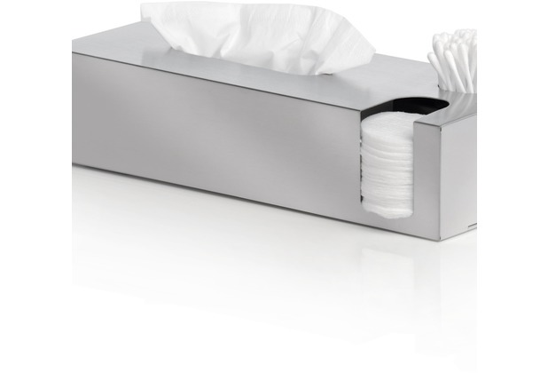 blomus NEXIO Kombibox matt für Kosmetiktücher, Wattestäbchen, Pads