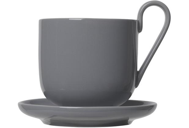 blomus RO Kaffeetassen Set 4tlg. für 2 Personen, grau/sharkskin
