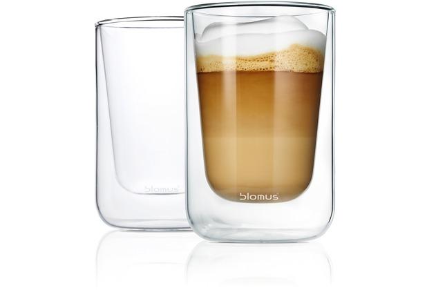 blomus NERO Set 2 Cappuccino-Gläser