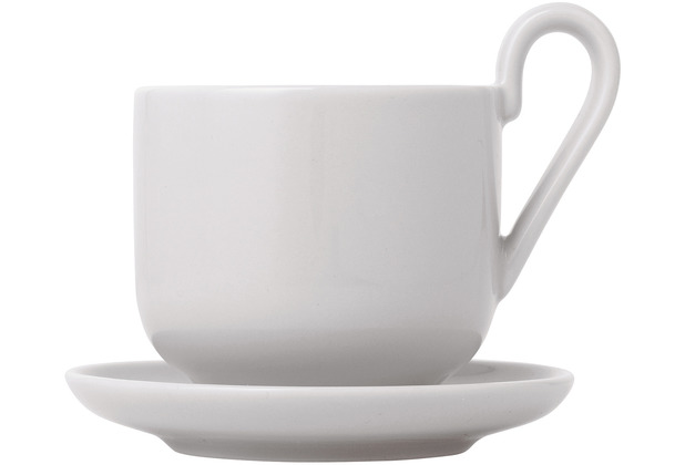 blomus RO Espressotassen Set 4tlg. für 2 Personen Nimbus Cloud Ø 6 cm, Ø 9 cm