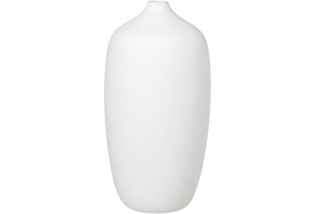 blomus Ceola Vase H 25 cm, Ø 13 cm, white