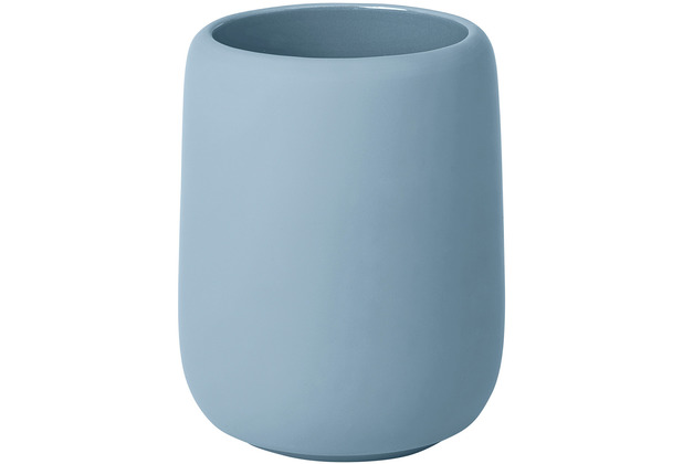 blomus Sono Zahnputzbecher Ø 8,5 cm, blau/ashley blue