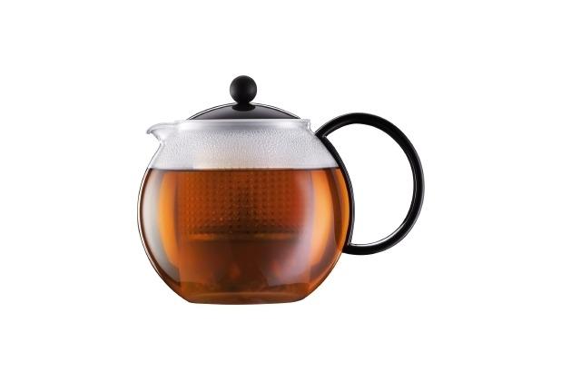 Bodum ASSAM Teebereiter mit Kunststoffsieb und Kunststoffdeckel 1,0 l schwarz