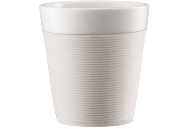 Bodum BISTRO 2 Stk. Tasse mit Silikonband 0.17l cremefarben