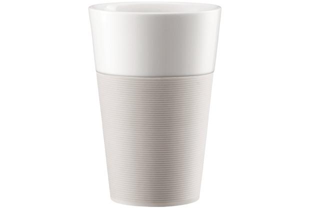 Bodum BISTRO 2 Stk. Tasse mit Silikonband 0.6l cremefarben