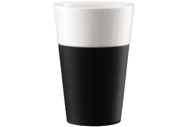 Bodum BISTRO 2 Stk. Tasse mit Silikonband 0.6l schwarz