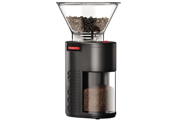 Bodum BISTRO Elektrische Kaffeemühle mit Kegelmahlwerk schwarz