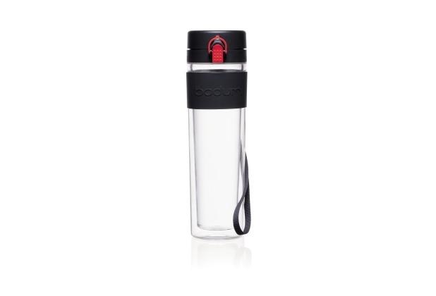 Bodum BISTRO Wasserflasche 0.45 l, Tritan, doppelwandig schwarz