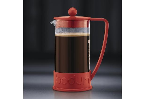 Bodum BRAZIL Kaffeebereiter 1,0 l 8 Tassen rot