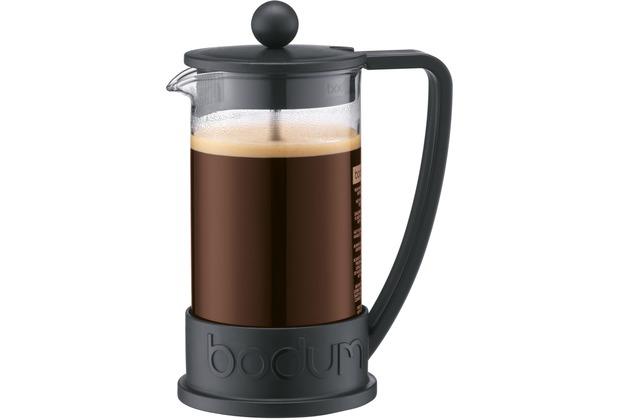 Bodum BRAZIL Kaffeebereiter 0,35 l 3 Tassen schwarz, gewölbter Griff