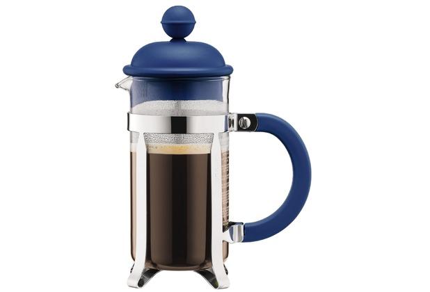 Bodum CAFFETTIERA Kaffeebereiter mit Kunstsoffdeckel, 3 Tassen, 0.35 l, Edelstahl
