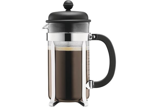 Bodum CAFFETTIERA Kaffeebereiter mit Kunststoffdeckel 1,0 l 8 Tassen schwarz