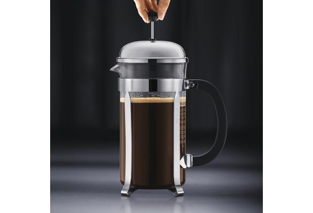 bodum caffettiera kaffeebereiter mit kunststoffdeckel 1 0 l 8 tassen schwarz ebay. Black Bedroom Furniture Sets. Home Design Ideas