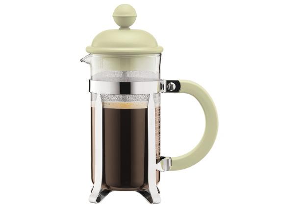 Bodum CAFFETTIERA Kaffeebereiter mit Kunststoffdeckel, 3 Tassen, 0.35 l, Edelstahl grün