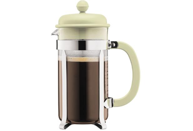 Bodum CAFFETTIERA Kaffeebereiter mit Kunststoffdeckel, 8 Tassen, 1.0 l, Edelstahl grün