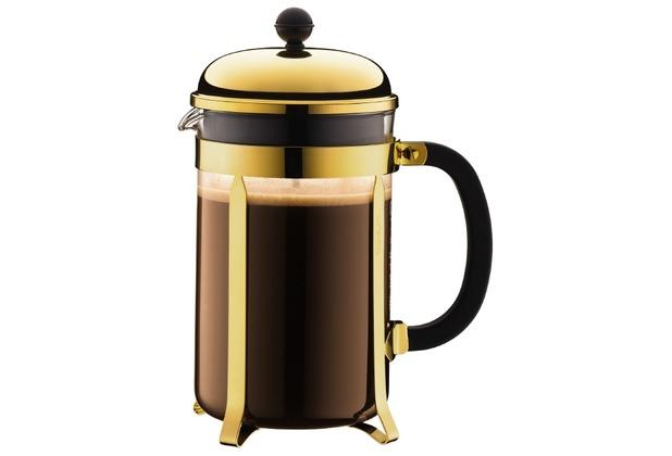 Bodum CHAMBORD Kaffeebereiter, 12 Tassen, 1.5 l gold