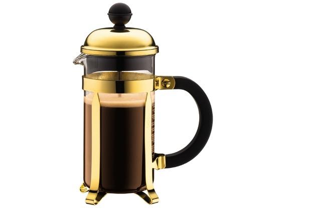 Bodum CHAMBORD Kaffeebereiter, 3 Tassen, 0.35 l gold