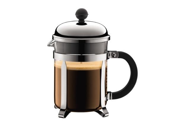 Bodum CHAMBORD Kaffeebereiter, 4 Tassen, 0.5 l, Edelstahl glänzend