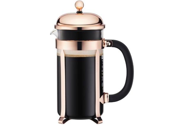 bodum chambord kaffeebereiter 8 tassen 1 0 l kupfer. Black Bedroom Furniture Sets. Home Design Ideas