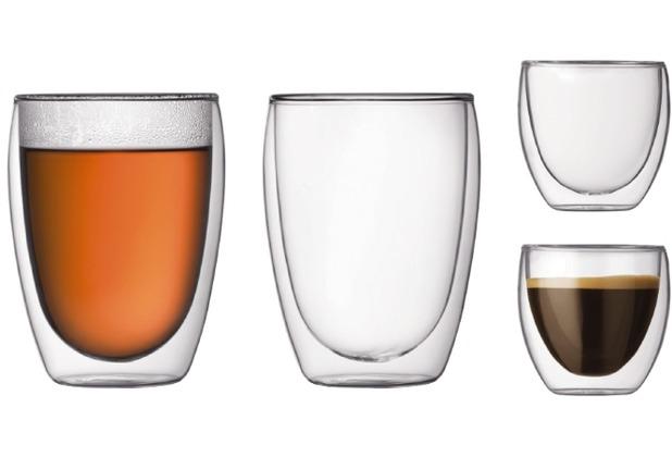 Bodum Doppelwandige Gläser Set, 2 Stk. 0.08 l + 2 Stk. 0.35 l transparent