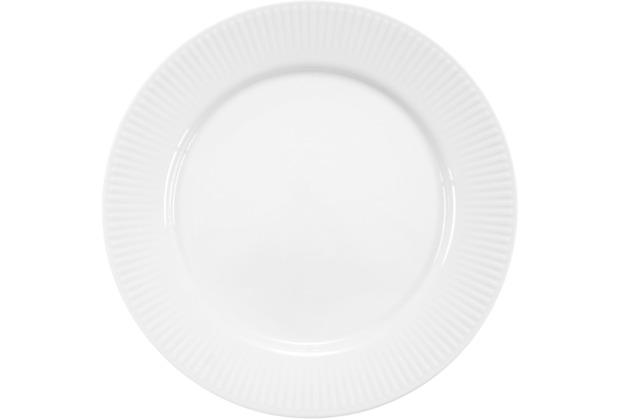 Bodum DOURO 4 Stk. Mittagessen Teller, Durchm. 23 cm, Porzellan weiß
