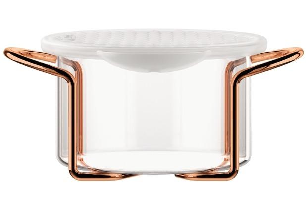Bodum HOT POT SET Glasschale mit Silikondeckel, 0.25 l kupfer
