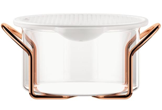 Bodum HOT POT SET Glasschale mit Silikondeckel, 1.0 l kupfer