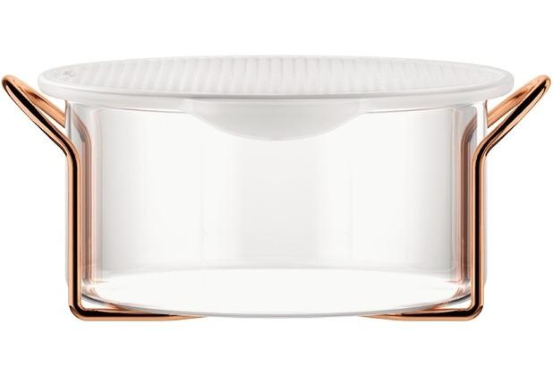 Bodum HOT POT SET Glasschale mit Silikondeckel, 2.5 l kupfer