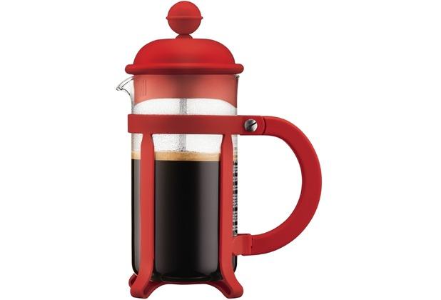 Bodum JAVA Kaffeebereiter, 3 Tassen, 0.35 l rot