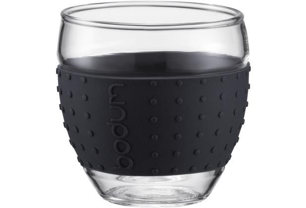 Bodum PAVINA 2 Stück Glas 0,1 l schwarz