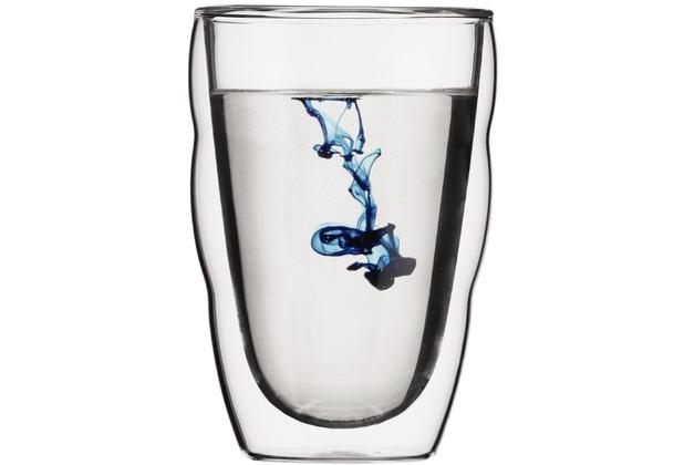 Bodum PILATUS 6 Stück Glas, doppelwandig, 0.35 l transparent