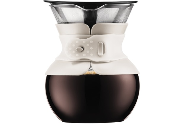 bodum pour over kaffeebereiter mit goldfarbigem filter kurze t lle 0 5 l 17 oz cremefarben. Black Bedroom Furniture Sets. Home Design Ideas