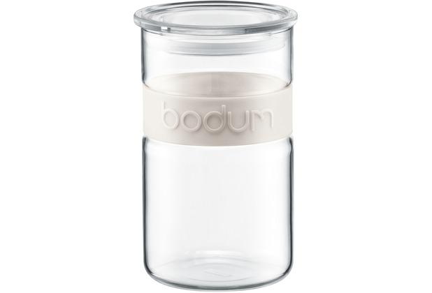 Bodum PRESSO Vorratsglas 1,0 l cremefarben