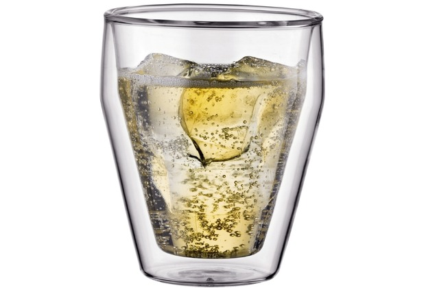 Bodum TITLIS 6 Stück glas, doppelwandig, 0.25 l, stapelbar transparent
