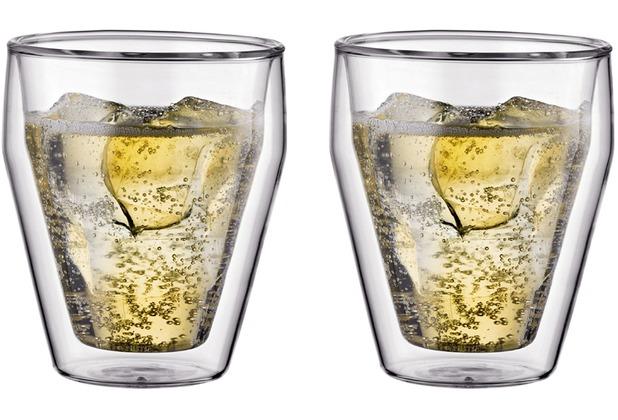 Bodum TITLIS Glas, doppelwandig, 0.25 l, stapelbar, (2er Set) transparent